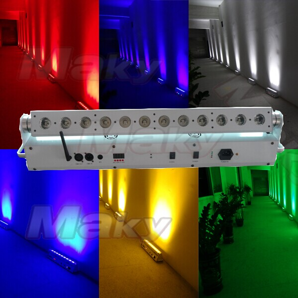 12PCS led battery&wireless dmx wall washer