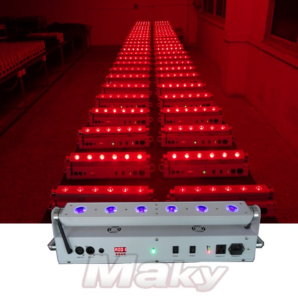 6pcs led battery power wireless dmx wall washer