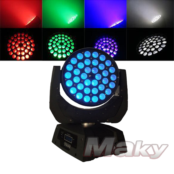 36pcs 6in1 led zoom moving head light