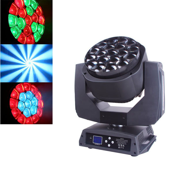 LED ZOOM and Rotation  19pcs 15W 4-in-1 moving head light